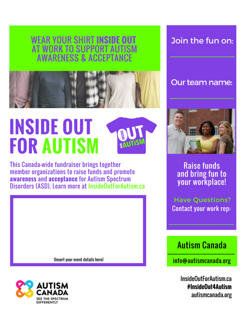 Autism Canada business poster