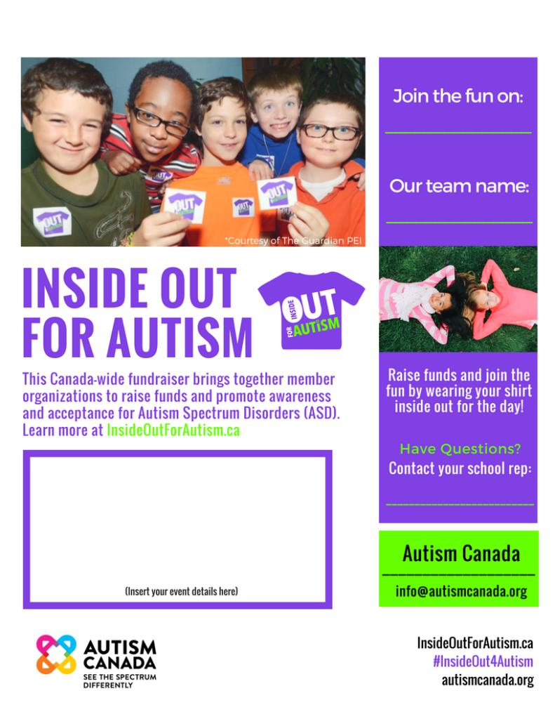 Autism Canada school poster