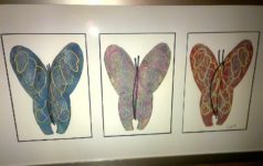 3 Butterflies Linoprint 2016